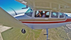 Anderman flies his six-seat Cessna 206 east and looks for photogenic landscapes, whether they're farms, ranches or wide-open grasslands.