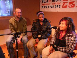 Ben Cooney, Keyonna Green, and Edali Terromes-Martinez in KFAI