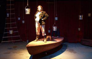 Hannah Duggan as Ahab in Moby Dick Unread.
