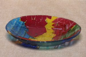 Fused glass bowl made by participant