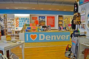 The I Heart Denver Store is located at the Denver Pavilions.