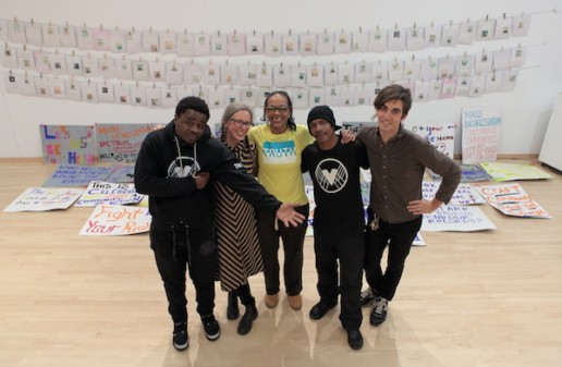 Co-op organizers and participants (from left) Karon Smith, Courtney Bowles, Faith Barton, Keenan Jones, and Mark Strandquist