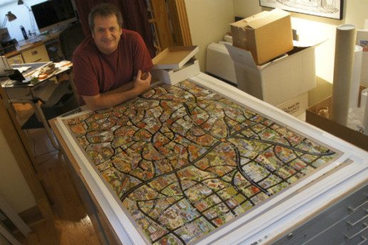 Kenny Be's Colorado map captures all of the states nooks and crannies.
