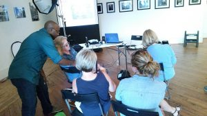 Matt Odom photographing an Amplify workshop