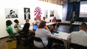 Nick Kouloungis WordPress Basics workshop at The 567