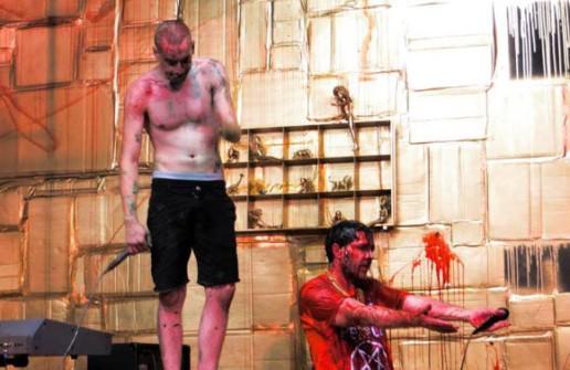 ScrewTooth fundraiser performance with Adam Stone and Andrew Novick.
