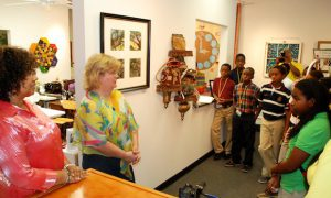 SMart, Inc. artists welcome a middle school tour
