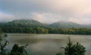 Mist over the Ohio by Aaron Blum