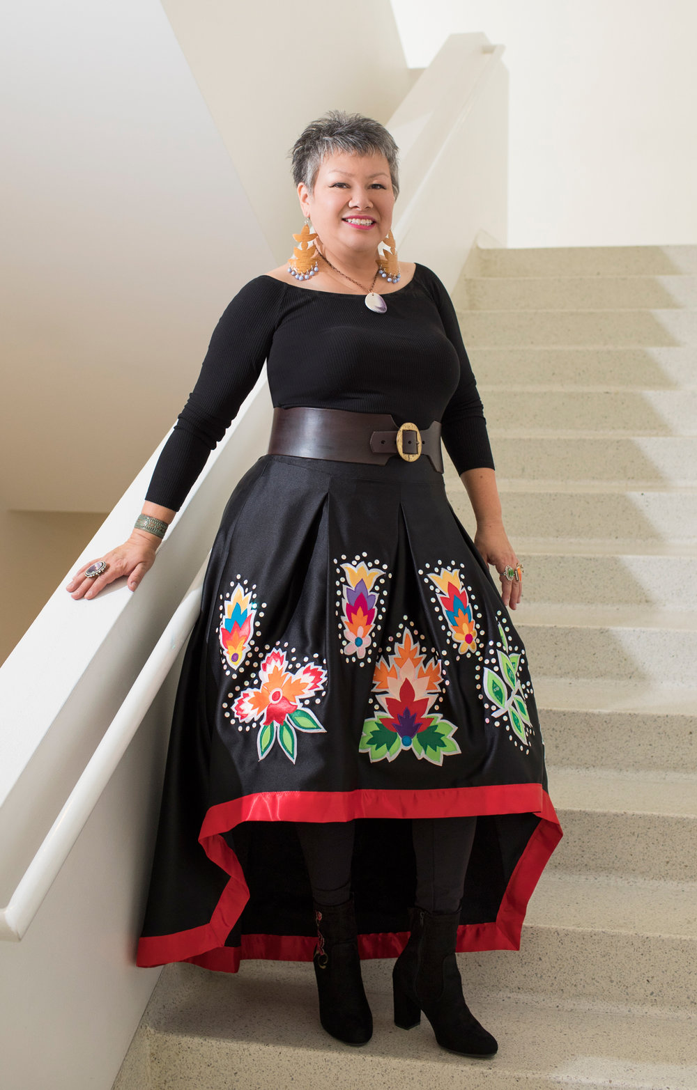 Delina White designs apparel and produces fashion shows celebrating and perpetuating Native cultural heritage - Creative Exchange