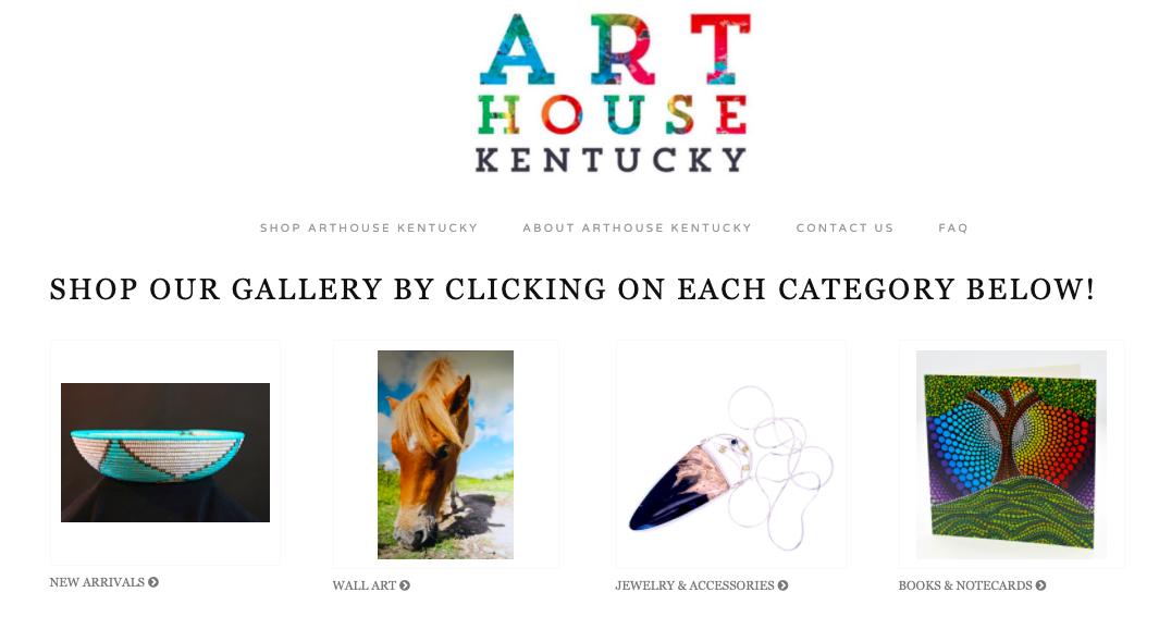 Art House Kentucky screen with sample artist images