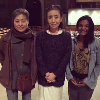 Chitra with Eiko Otake (center) in New York City, 2016