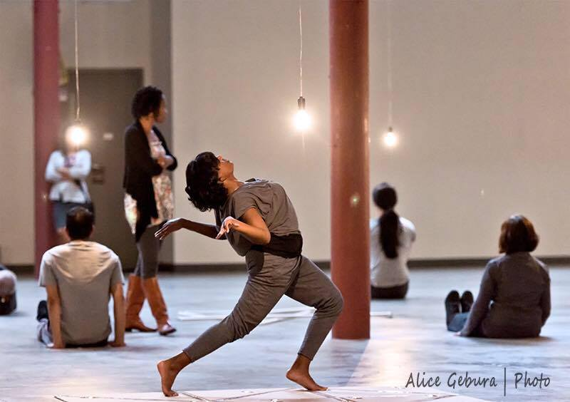 Chitra performing in Aniccha Arts' Every Other (2015), photo by Alice Gebura