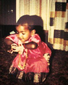 Chitra dancing at age 2